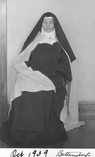 note: in October of 1939 Mother Aloysius of Bettendorf was helping in Indianapolis