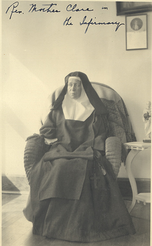 Mother Clare entered into eternal life on August 18, 1923