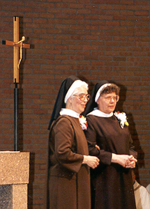 Sr. Mary Jo Loebig, O.C.D. and Sr. Mary Anne Schuman, O.C.D.