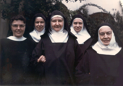 Sisters Mary Anne, Astrid, Desiree, Yvonne, Mother Emmanuel